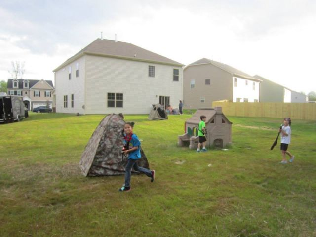 Backyard Laser Tag with trailer